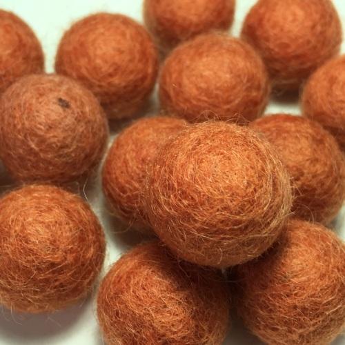2cm Wool Felt Ball - Terracotta