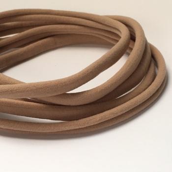Nylon Skinny Headband - Taupe