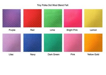 Die Cut Butterfly - Tiny Polka Dot Wool Blend Felt