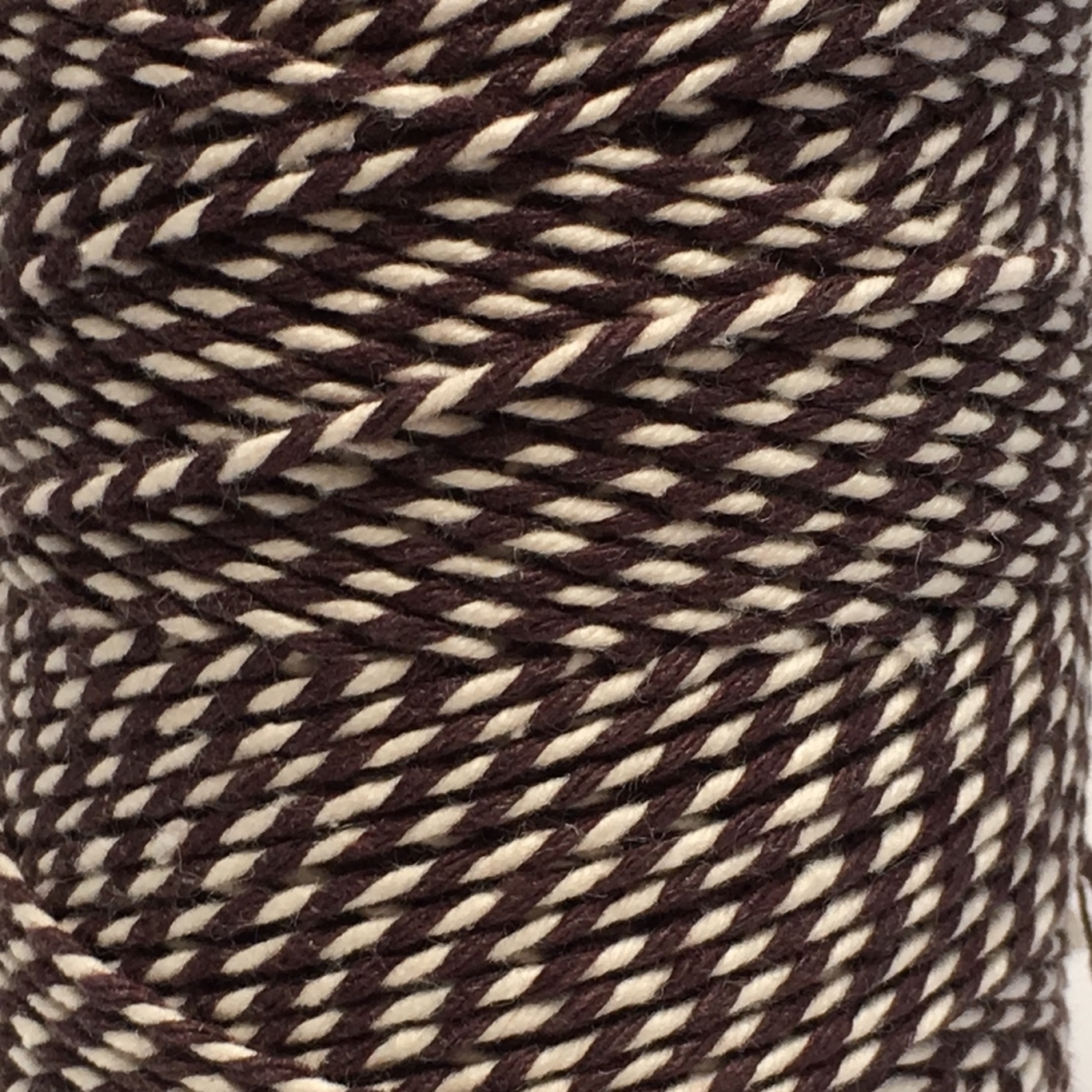 10m Bakers Twine: Brown/White