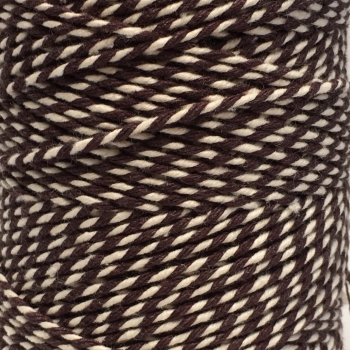 5 Metres - Bakers Twine: Brown/White