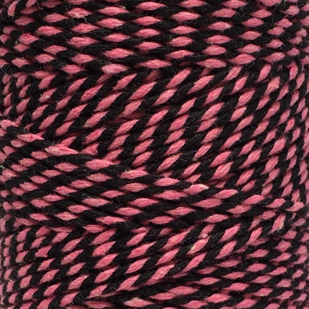 10m Bakers Twine: Pink/Black