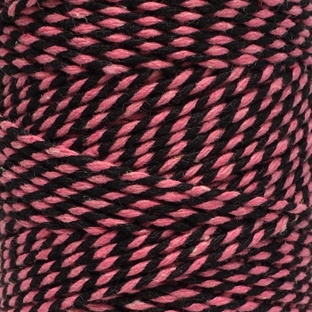 5 Metres - Bakers Twine: Pink/Black