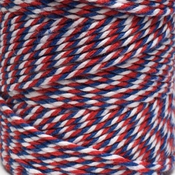 10m Bakers Twine: Red/White/Blue