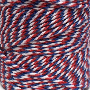 5 Metres - Bakers Twine: Red/White/Blue