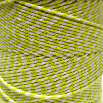 5 Metres - Bakers Twine: Lime/White