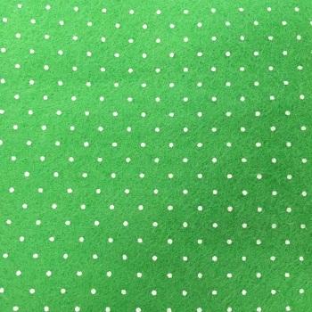 Tiny Polka Dot Wool Blend Felt - Lime Green