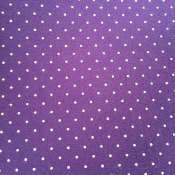 Tiny Polka Dot Wool Blend Felt - Purple