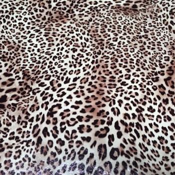 Felt Backed Leopard Print Vinyl Sheet