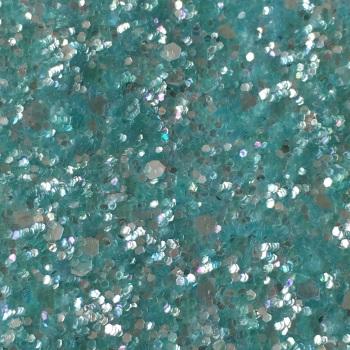 Crystal Chunky Glitter Fabric Sheet - Mint