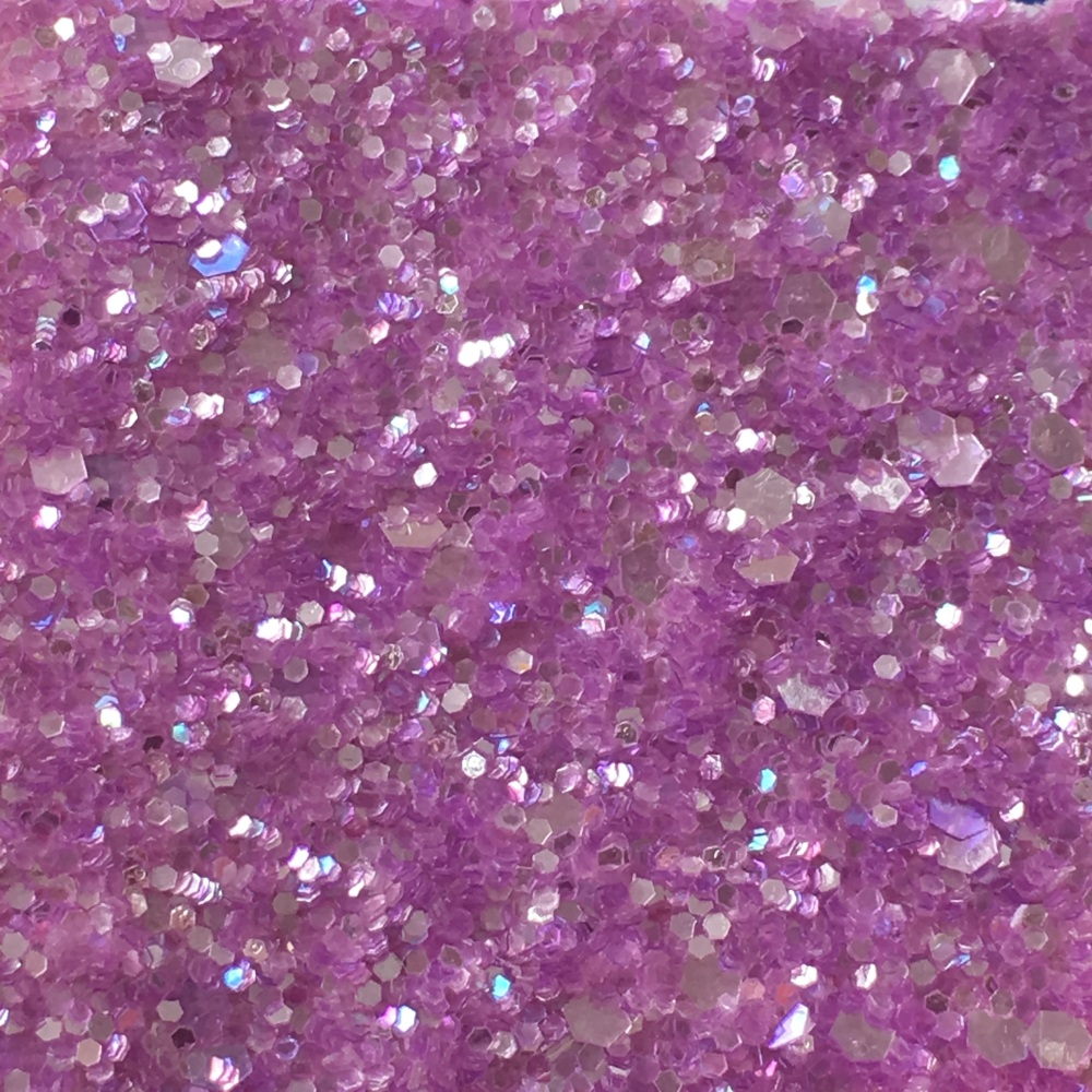 Exclusive Chunky Glitter Fabric A4 Sheet Lilac