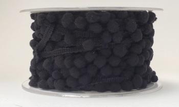SALE 8mm Pom Pom Trim - Black