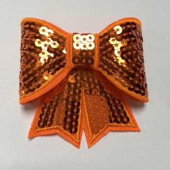 70mm Sequin Bow - Orange