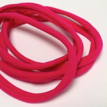 Nylon Skinny Headband - Fuchsia