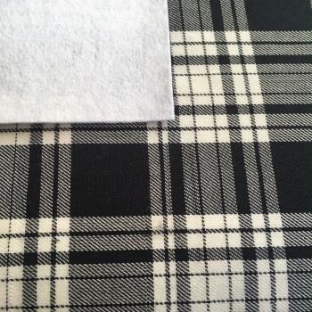 Tartan Fabric Felt - Monochrome