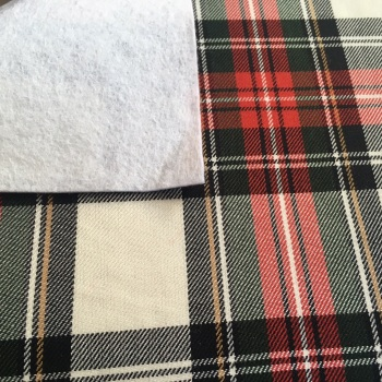 FABRIC FELT - A4 Sheet - Tartan - Winter