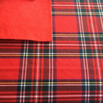 FABRIC FELT Sheet - Tartan - Traditional