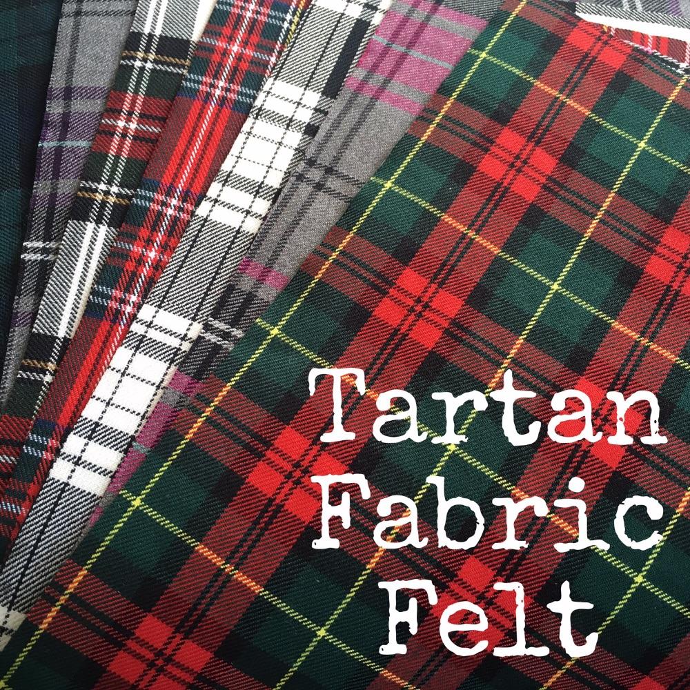 Tartan Fabric Felt