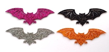 SALE Halloween Glitter Motif - Bat