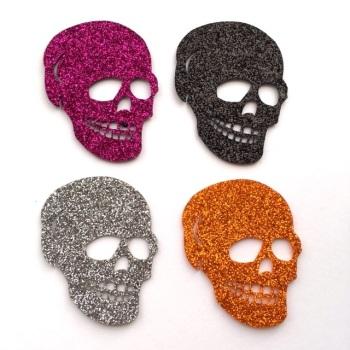 SALE Halloween Glitter Motif - Skull
