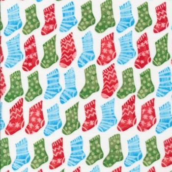 SALE Fabric  - Cloud 9 - Festive Stockings