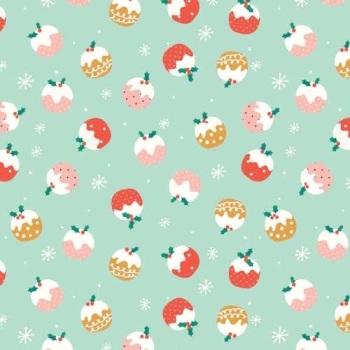 SALE Fabric  - Dashwood Studio - Festive Friends - Christmas Puddings