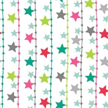 SALE Fabric  - Dashwood Studio - Christmas Dreams - Starry Lights