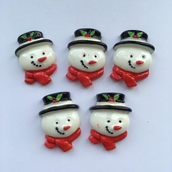 SALE Christmas Resin - Snowman