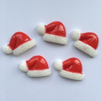SALE Christmas Resin - Santa Hat