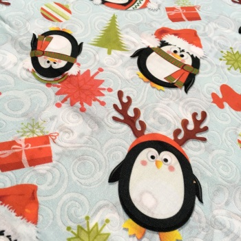 SALE FABRIC FELT SHEET - Limited Edition - Holiday Penguins