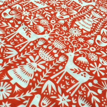 SALE FABRIC FELT SHEET - Limited Edition - Nordic Reindeer - Red