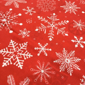 SALE FABRIC FELT SHEET - Limited Edition - Snowflakes - Red