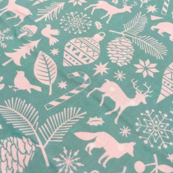SALE FABRIC FELT SHEET - Limited Edition - Woodland Forest - Mint