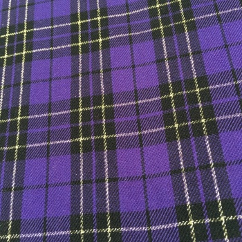 FABRIC FELT - A4 Sheet - Metallic Tartan - Purple