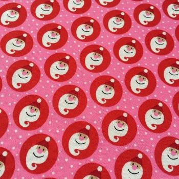 SALE Fabric  - Copenhagen Print Factory - Santa Snow - Pink