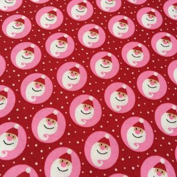 SALE Fabric  - Copenhagen Print Factory - Santa Snow - Red