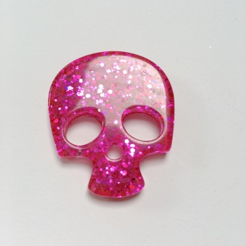 SALE Resin - Skull - Bright Pink