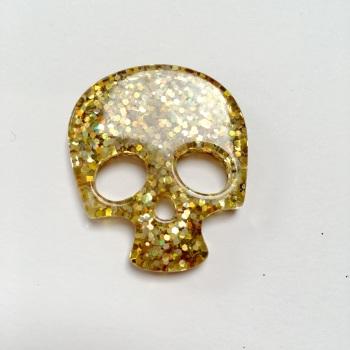 SALE Resin - Skull - Gold