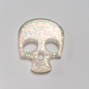 SALE Resin - Skull - Pearl