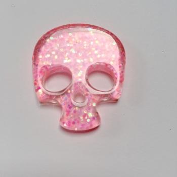 SALE Resin - Skull - Pink