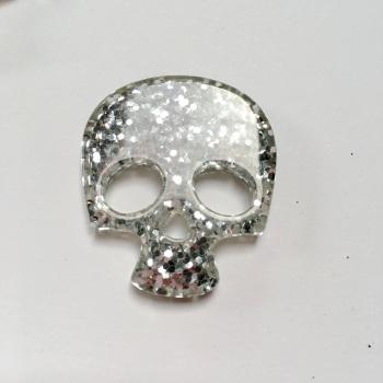 SALE Resin - Skull - Silver