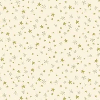Fabric  - Makower - Star & Snowflake - Cream