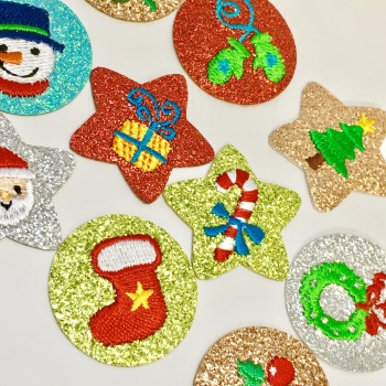 SALE Christmas Glitter Motif