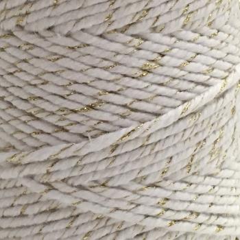 10m Bakers Twine: Metallic - gold/white