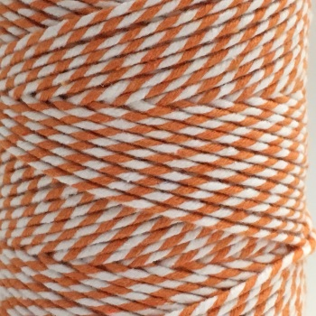 5 Metres - Bakers Twine: Orange/White