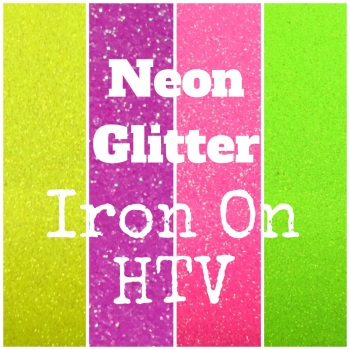 IRON ON Glitter Neon