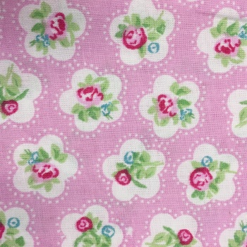SALE FABRIC FELT SHEET - Valentine - Pink Roses
