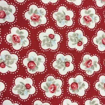 SALE FABRIC FELT SHEET - Valentine - Red Roses