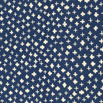Fabric - Mini Crosses - Navy