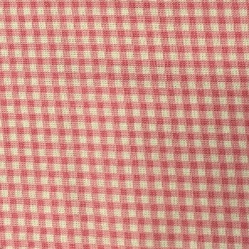 Fabric - Gingham - Pink